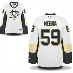 Women's Jayson Megna Pittsburgh Penguins Reebok Authentic White Away Jersey
