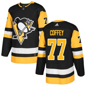 Paul Coffey Pittsburgh Penguins Adidas Authentic Black Home Jersey