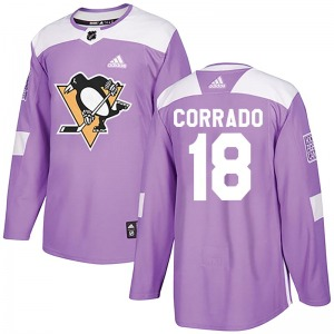 Youth Frank Corrado Pittsburgh Penguins Adidas Authentic Purple Fights Cancer Practice Jersey